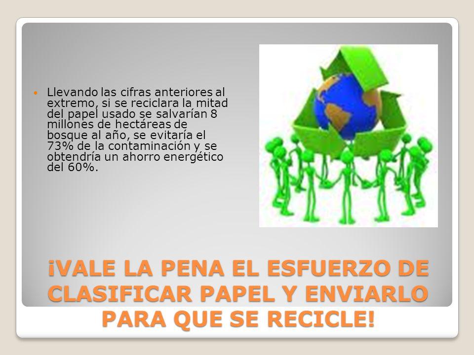 Pero no podemos reciclar grandes cantidades de papel, es necesario exigir que las papeleras lo fabriquen…