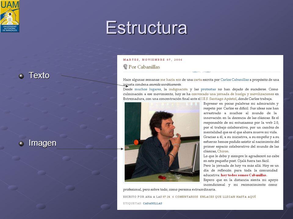 Estructura TextoImagen