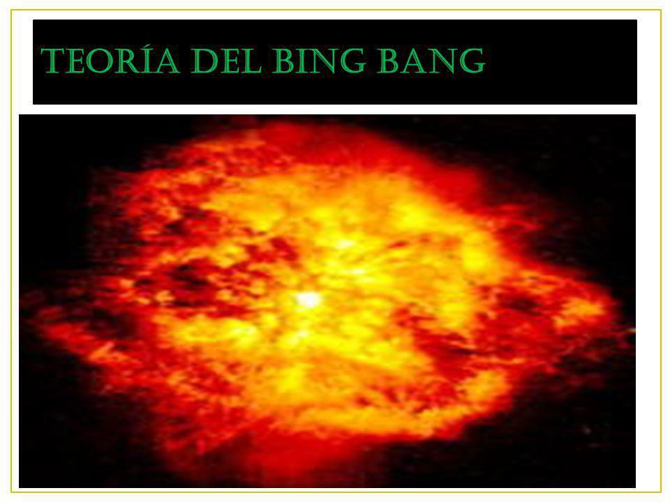 10/12/13 La teoría del Big Bang o gran explosión, supone que, hace entre 13.700 y 13.900 millones de años, toda la materia del Universo estaba concentrada en una zona extraordinariamente pequeña del espacio, un único punto, y explotó.