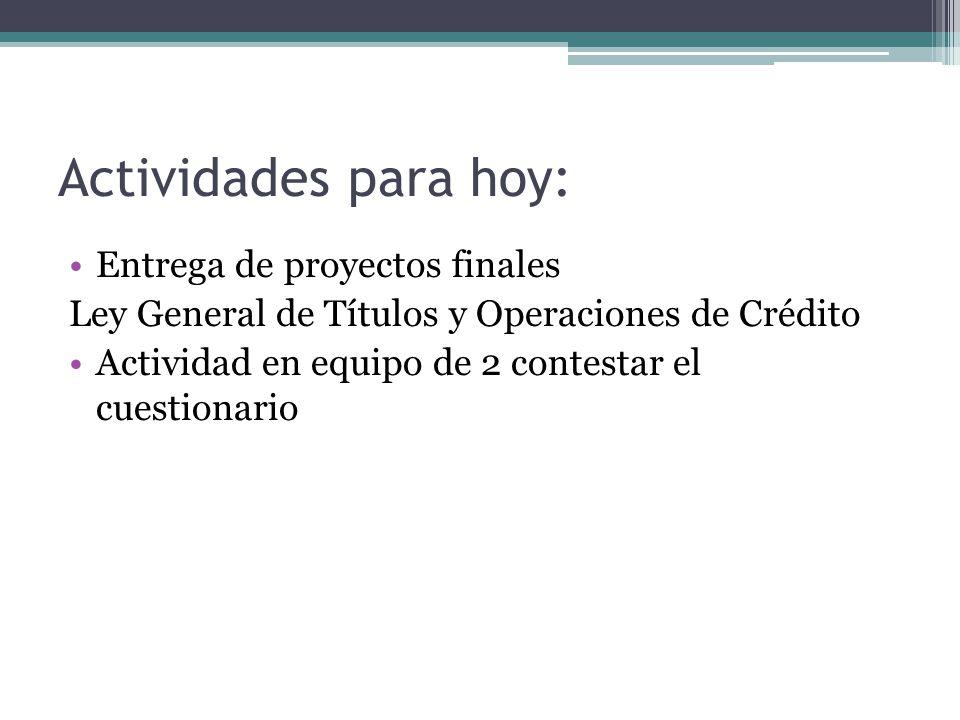 LEY GENERAL DE TÍTULOS Y OPERACIONES DE CRÉDITO CAPÍTULO ÚNICO Artículo 1o.- Son cosas mercantiles los títulos de crédito.