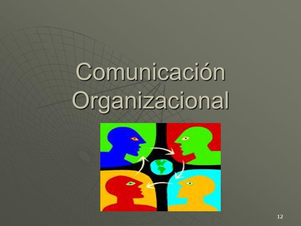 12 Comunicación Organizacional