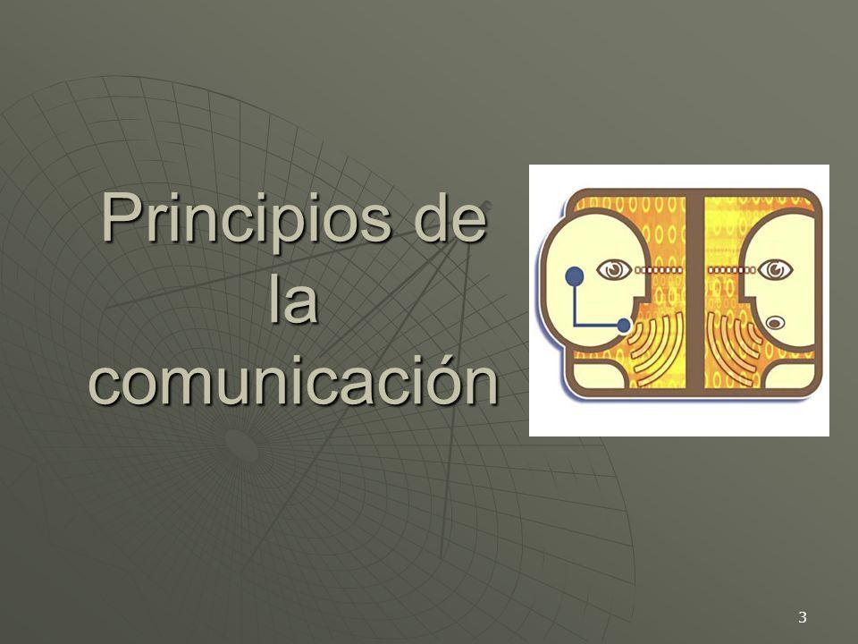 3 Principios de la comunicación