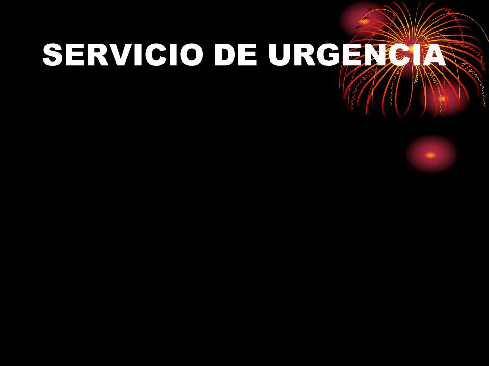 SERVICIO DE URGENCIA