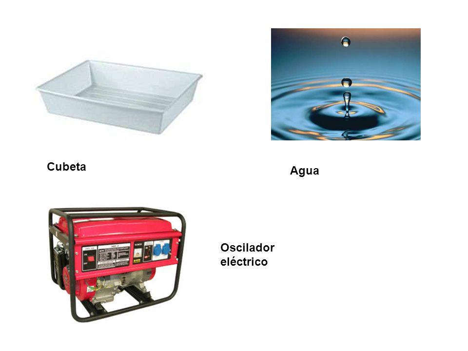 Cubeta Agua Oscilador eléctrico