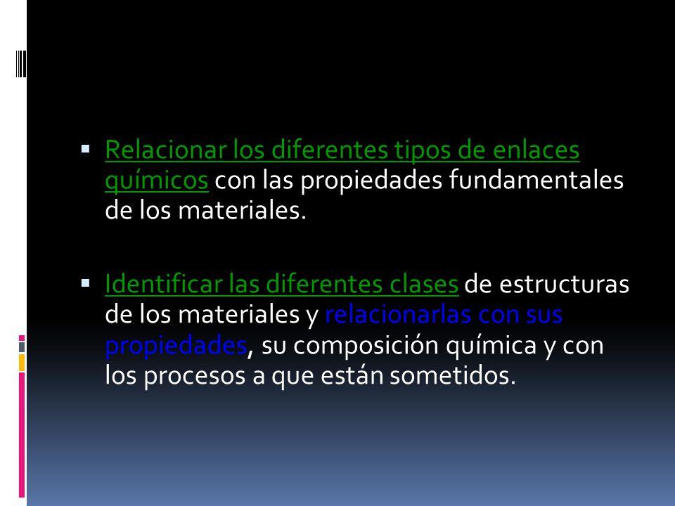 Conocer los principales tipos de ensayos que se le realizan a los materiales.