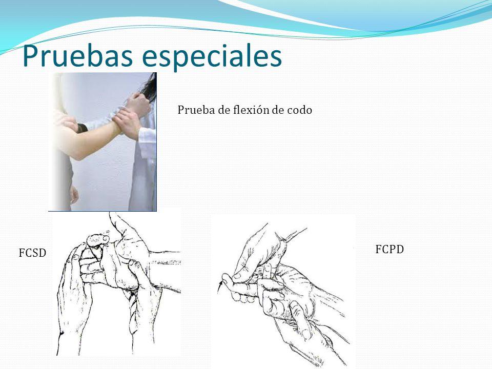 Pruebas especiales FCSD FCPD Prueba de flexión de codo