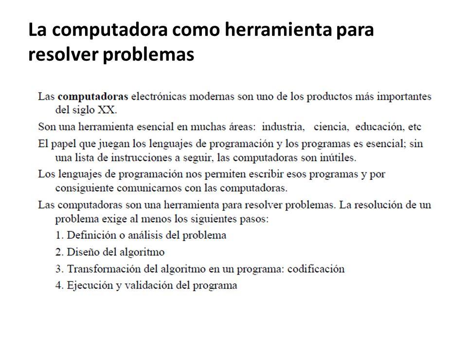 La computadora como herramienta para resolver problemas