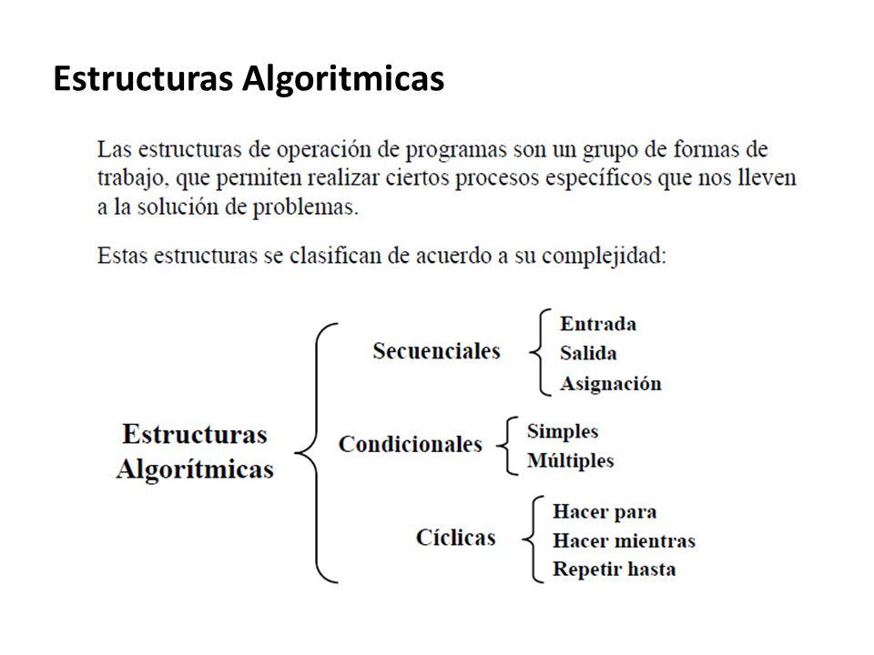 Estructuras Algoritmicas