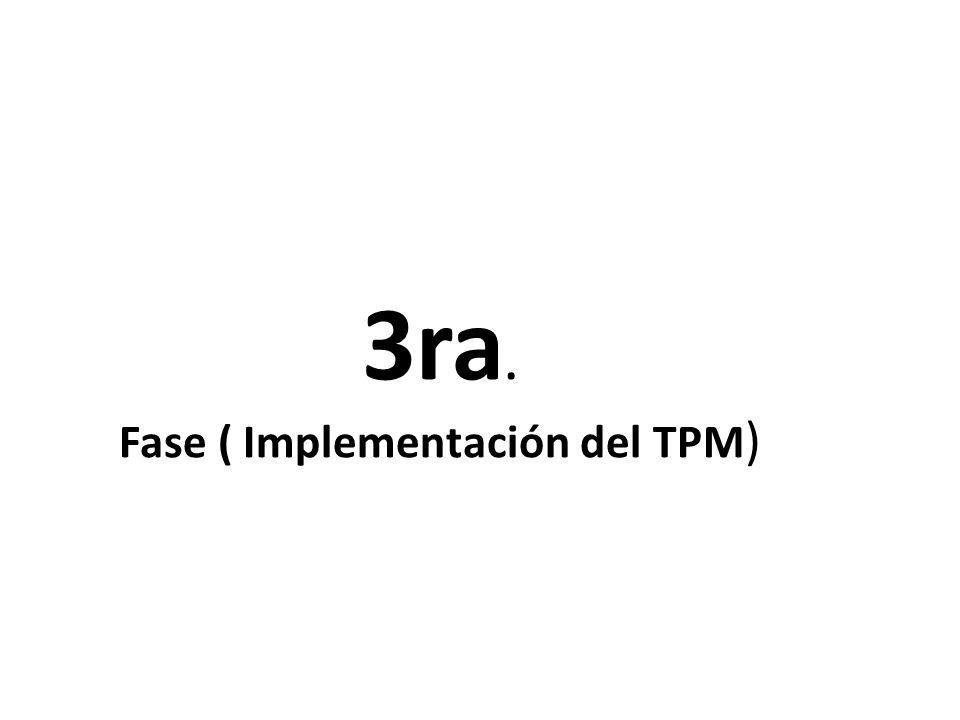 3ra. Fase ( Implementación del TPM )