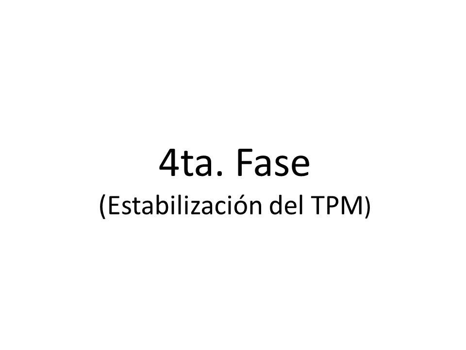 4ta. Fase (Estabilización del TPM )