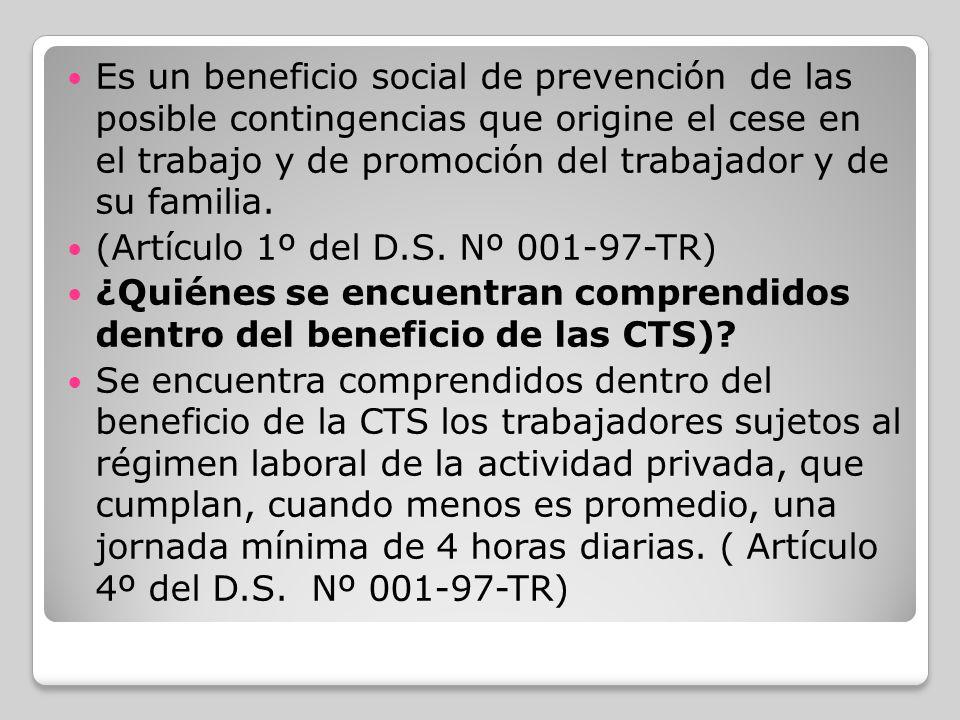 ¿Quiénes están excluidos de percibir las CTS.