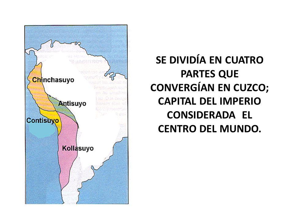 ORGANIZACIÓN POLÍTICA El Sapainca Era el soberano del Tahuantinsuyo, llamado también Sapainca era venerado por tener un origen divino; supuestamente era el hijo del sol.