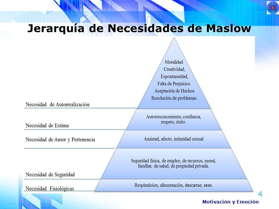 4 Jerarquía de Necesidades de Maslow Motivación y Emoción