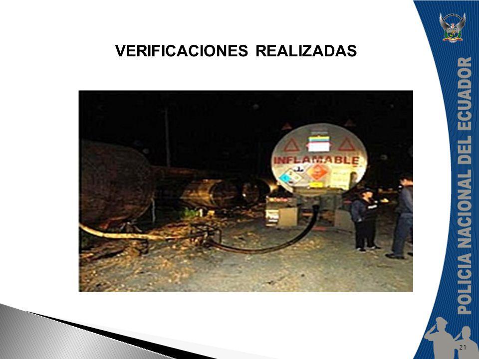 VERIFICACIONES REALIZADAS 21