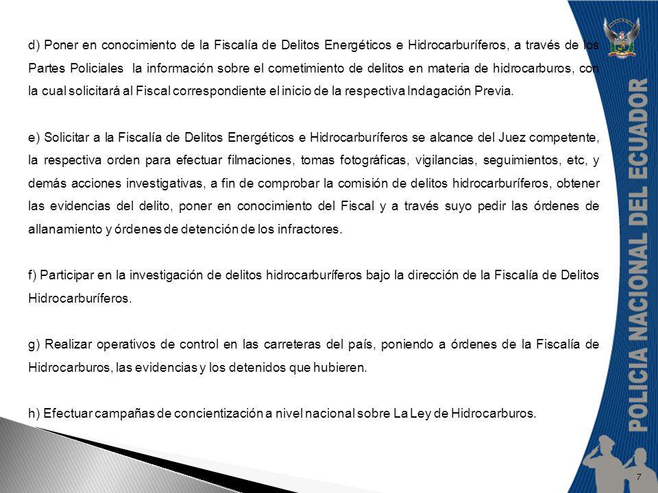 DELITOS HIDROCARBURIFEROS En concordancia con el Plan de Soberanía Energética, mediante Ley No.