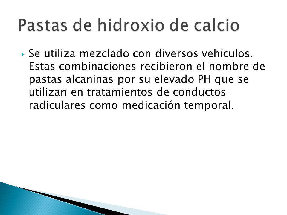 Se utiliza mezclado con diversos vehículos. Estas combinaciones recibieron el nombre de pastas alcaninas por su elevado PH que se utilizan en tratamie