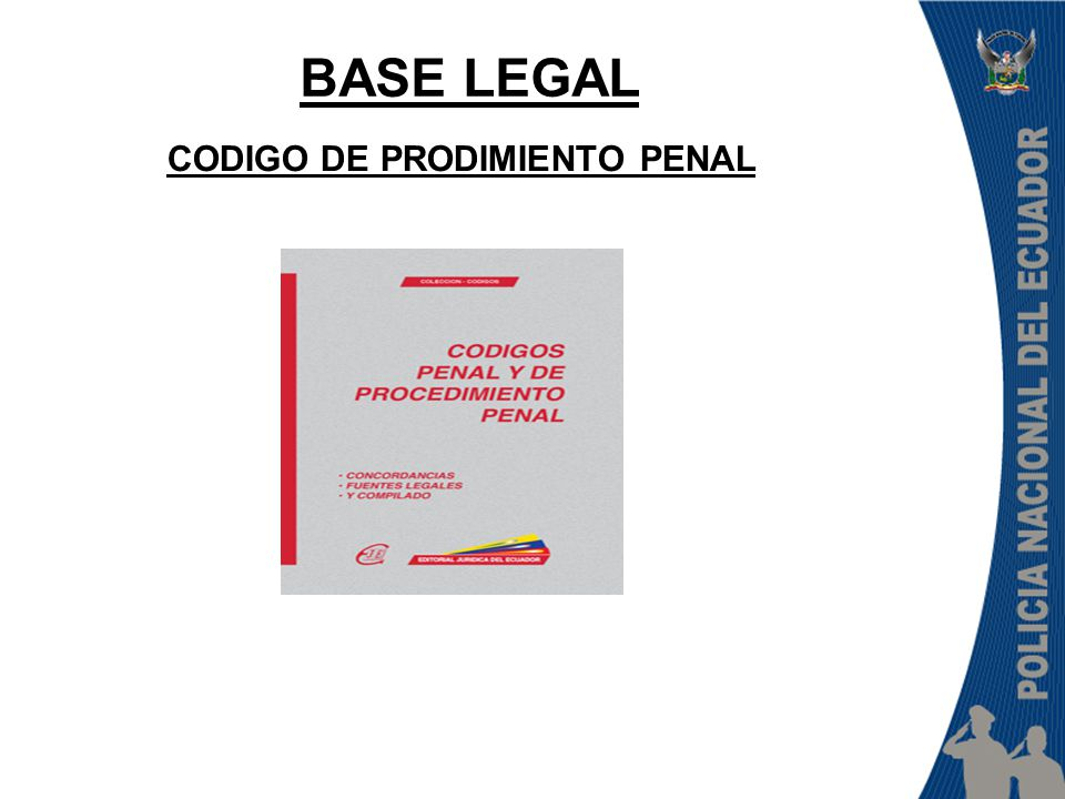 CODIGO DE PRODIMIENTO PENAL BASE LEGAL