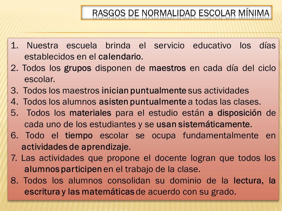 I.Garantizar las condiciones mínimas para el aprendizaje.