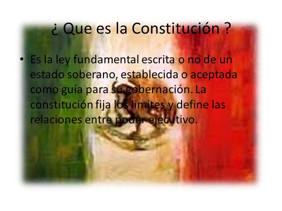 Principales disposiciones legales de la constitucion promulgada el 4 de Octubre 1824 Establecimientos de la Republica Federal como forma de gobierno, con carácter representativo, popular y federal.