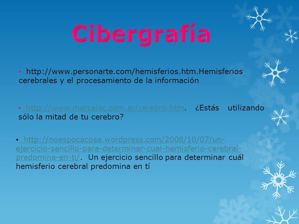 http://www.marcelac.com.ar/cerebro.htm. ¿Estás utilizando sólo la mitad de tu cerebro? http://www.marcelac.com.ar/cerebro.htm http://www.personarte.co