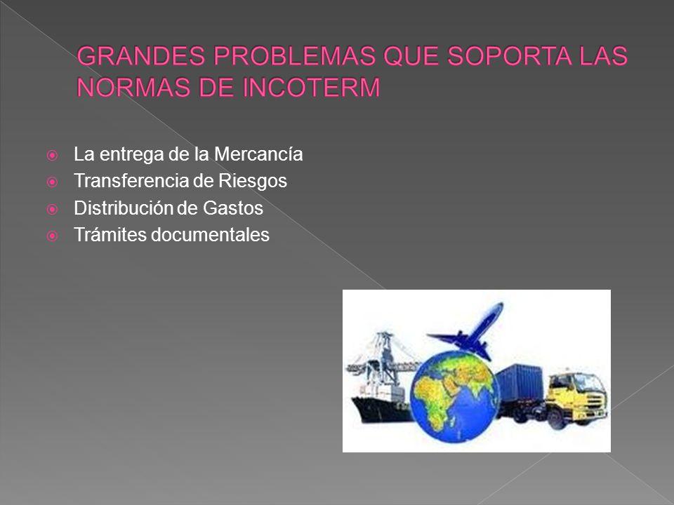 La entrega de la Mercancía Transferencia de Riesgos Distribución de Gastos Trámites documentales