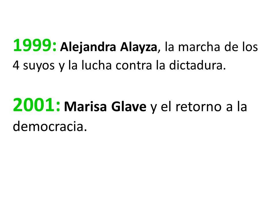 1999: Alejandra Alayza, la marcha de los 4 suyos y la lucha contra la dictadura.