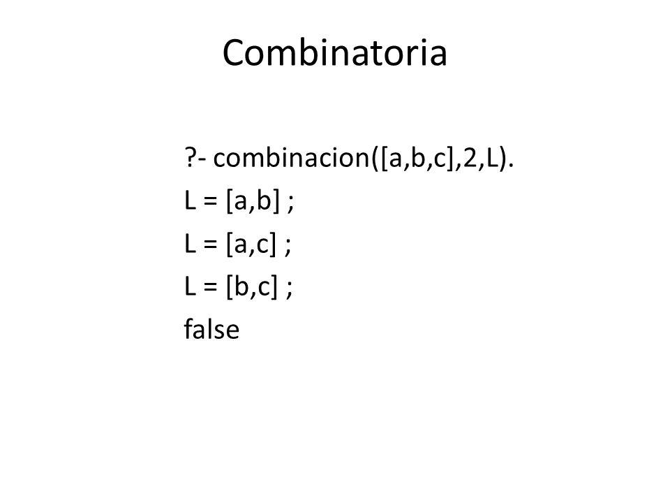 Def.Combinatoria combinacion(L1,N,L2):-combinacion_1(L1,N,L2).