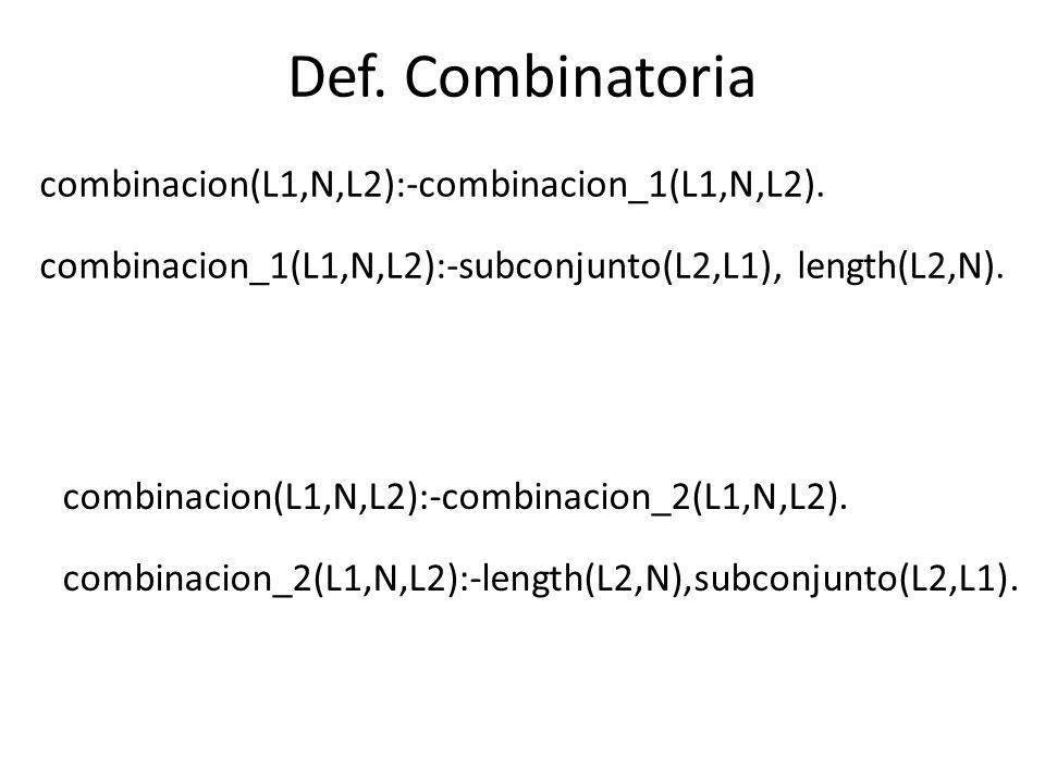 Permutaciones ?- select(X,[a,b,c],L).