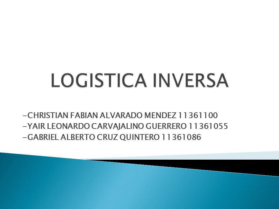 La logística inversa se ocupa de los aspectos derivados en la gestión de la cadena de suministros del traslado de materiales desde el usuario o consumidor hacia el fabricante o hacia los puntos de recogida, para su reutilización, reciclado o eventualmente, su destrucción.