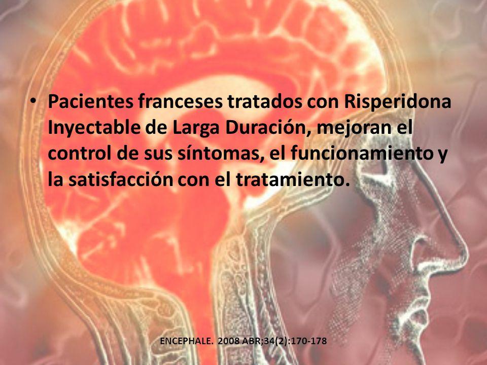 Pacientes franceses tratados con Risperidona Inyectable de Larga Duración, mejoran el control de sus síntomas, el funcionamiento y la satisfacción con