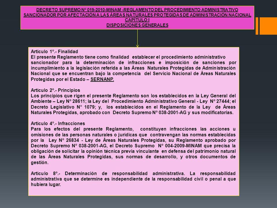 DECRETO SUPREMO Nº 019-2010-MINAM -REGLAMENTO DEL PROCEDIMIENTO ADMINISTRATIVO SANCIONADOR POR AFECTACIÓN A LAS ÁREAS NATURALES PROTEGIDAS DE ADMINIST