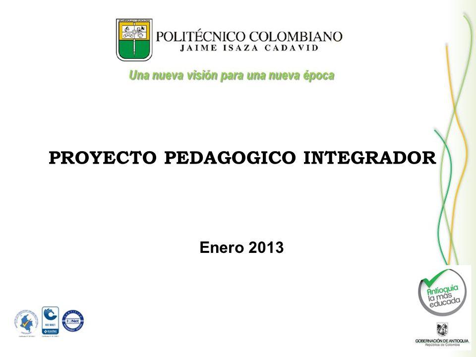 PROYECTO PEDAGOGICO INTEGRADOR Enero 2013