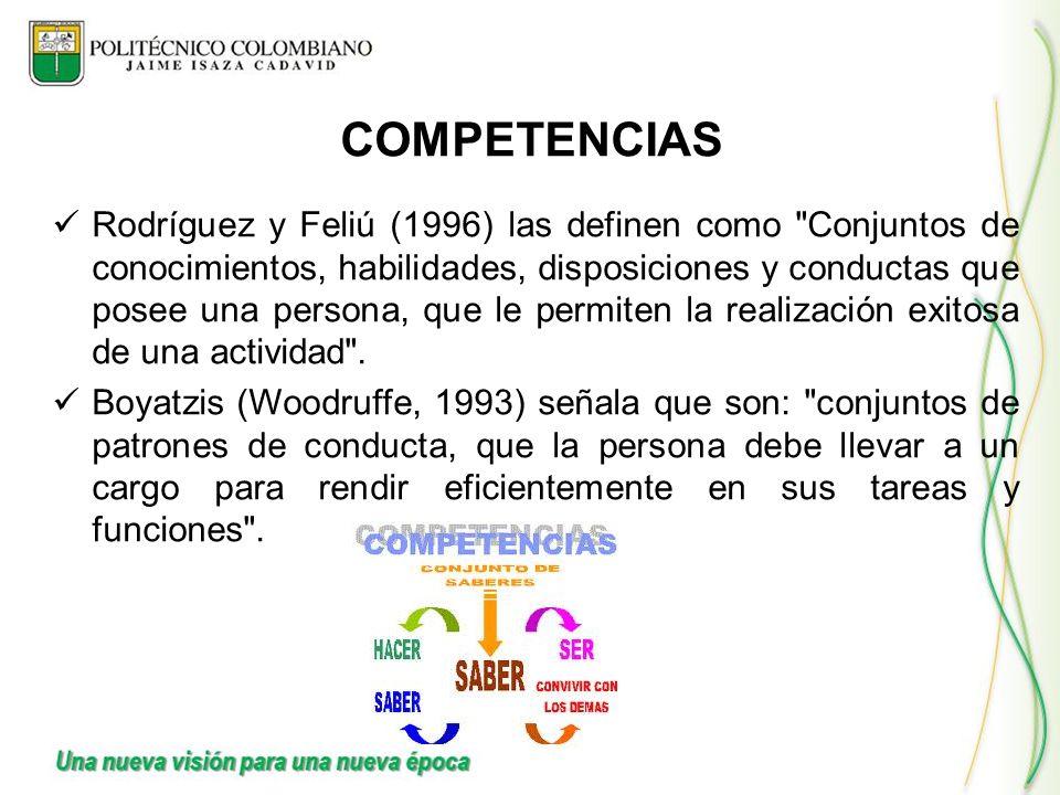 Rodríguez y Feliú (1996) las definen como