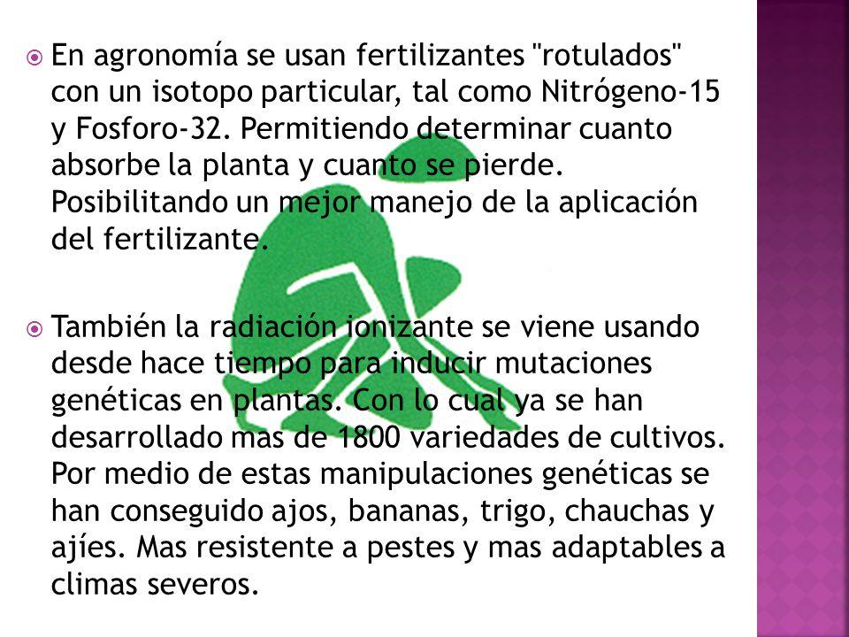 En agronomía se usan fertilizantes