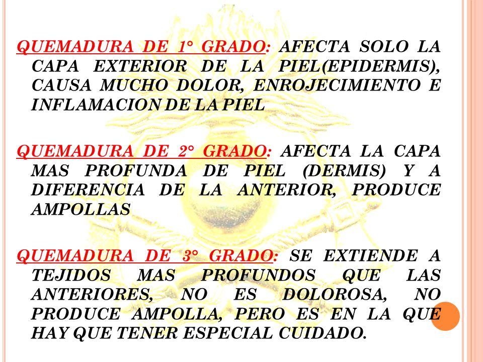 VALORACION Y CLASIFICACION LAS QUEMADURAS SE CLASIFICAN SEGÚN: EXTENSION: SE REFIERE AL TAMAÑO DE LA SUPERFICIE CORPORAL AFECTADA. PROFUNDIDAD: ESTA R