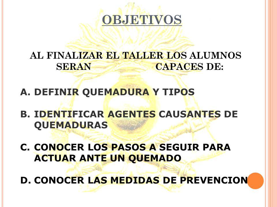 QUEMADURAS TALLER PREVENCION Y FORMA DE ACTUAR ANTE ACCIDENTES DOMESTICOS ( Proyecto Ecoguardianes )