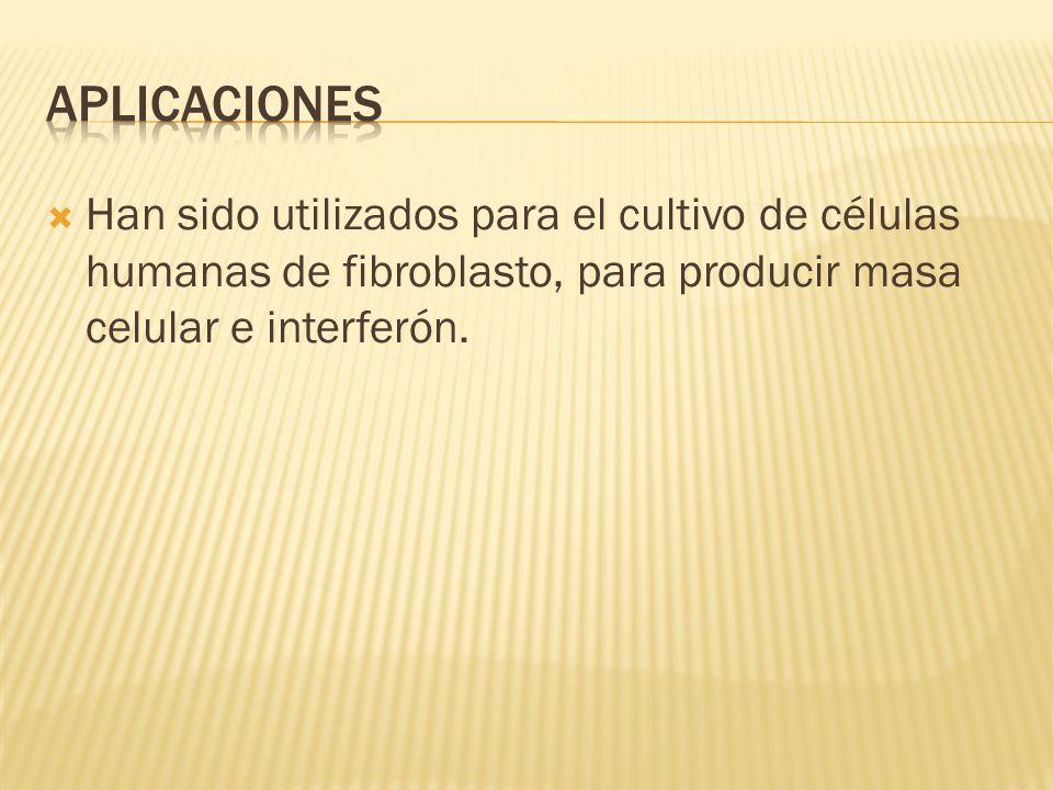 Han sido utilizados para el cultivo de células humanas de fibroblasto, para producir masa celular e interferón.
