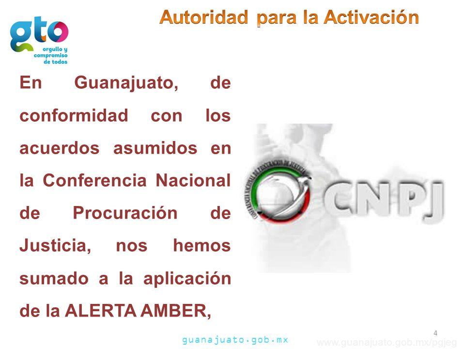 guanajuato.gob.mx www.guanajuato.gob.mx/pgjeg En Guanajuato, de conformidad con los acuerdos asumidos en la Conferencia Nacional de Procuración de Jus