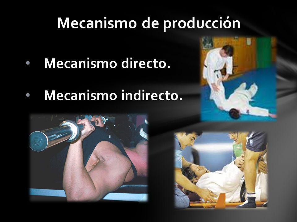 Mecanismo de producción Mecanismo directo. Mecanismo indirecto.
