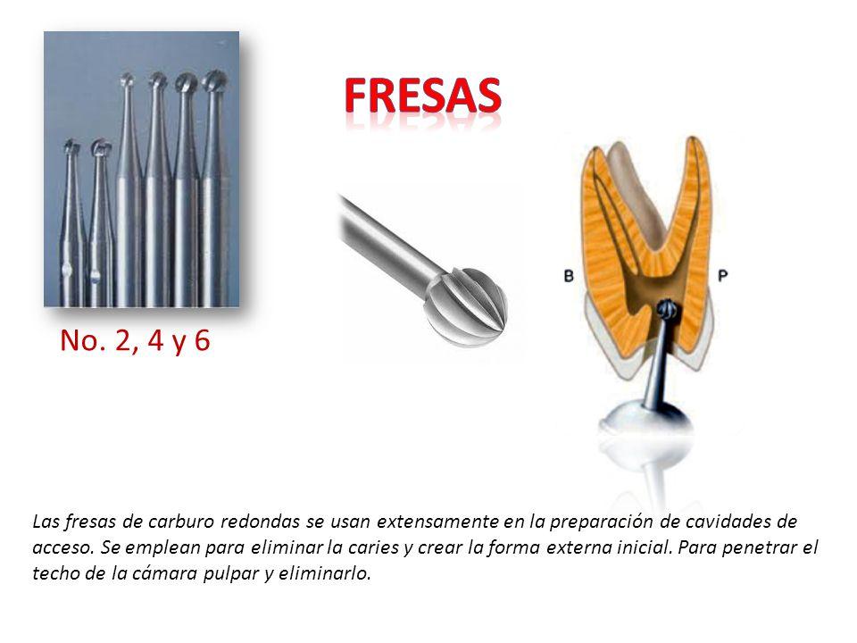 Las fresas de carburo redondas se usan extensamente en la preparación de cavidades de acceso. Se emplean para eliminar la caries y crear la forma exte