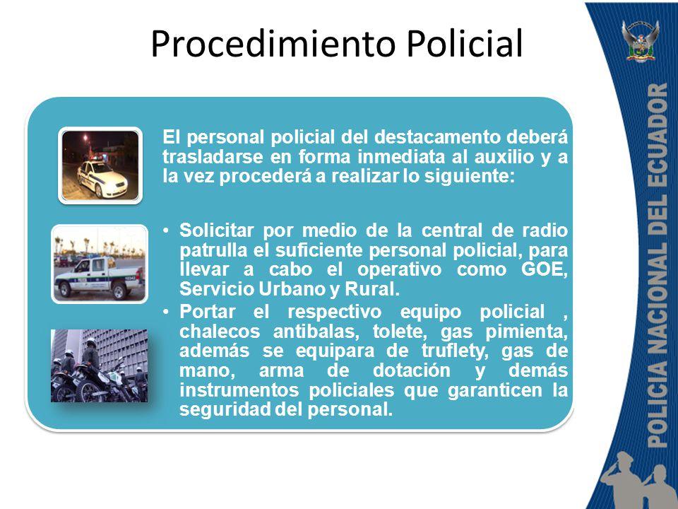 Procedimiento Policial ORGANIZAR AL PERSONAL (ANTES DE LLEGAR AL LUGAR), DESIGNANDO RESPONSABILIDADES: Con todas las unidades que participen en el operativo se deberá distribuir en toda el área donde se llevara afecto el juzgamiento de los aprehendidos: Por lo general se desarrollan en espacios abiertos como : plazas, mercados, estadios entre otros.