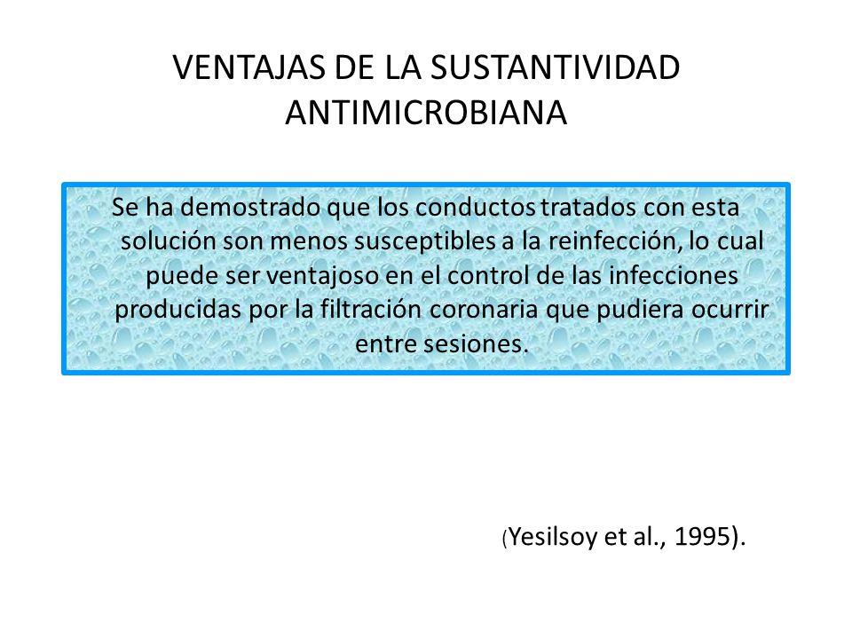 La sustantividad es una propiedad que la hace única, y su actividad antimicrobiana está a la altura del hipoclorito de sodio.