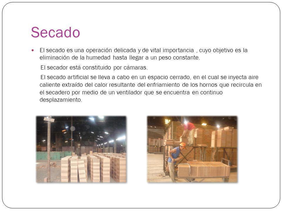 Secado El secado es una operación delicada y de vital importancia, cuyo objetivo es la eliminación de la humedad hasta llegar a un peso constante. El