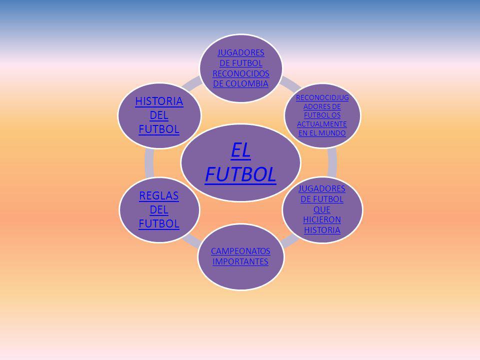 EL FUTBOL JUGADORES DE FUTBOL RECONOCIDOS DE COLOMBIA RECONOCIDJUG ADORES DE FUTBOL OS ACTUALMENTE EN EL MUNDO JUGADORES DE FUTBOL QUE HICIERON HISTORIA CAMPEONATOS IMPORTANTES REGLAS DEL FUTBOL HISTORIA DEL FUTBOL