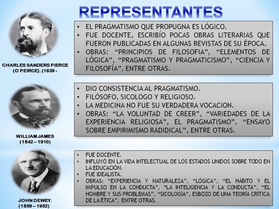 Las manifestaciones socioeconómicas, políticas y culturales de finales del siglo XIX condujeron al florecimiento de una filosofía propiamente norteame
