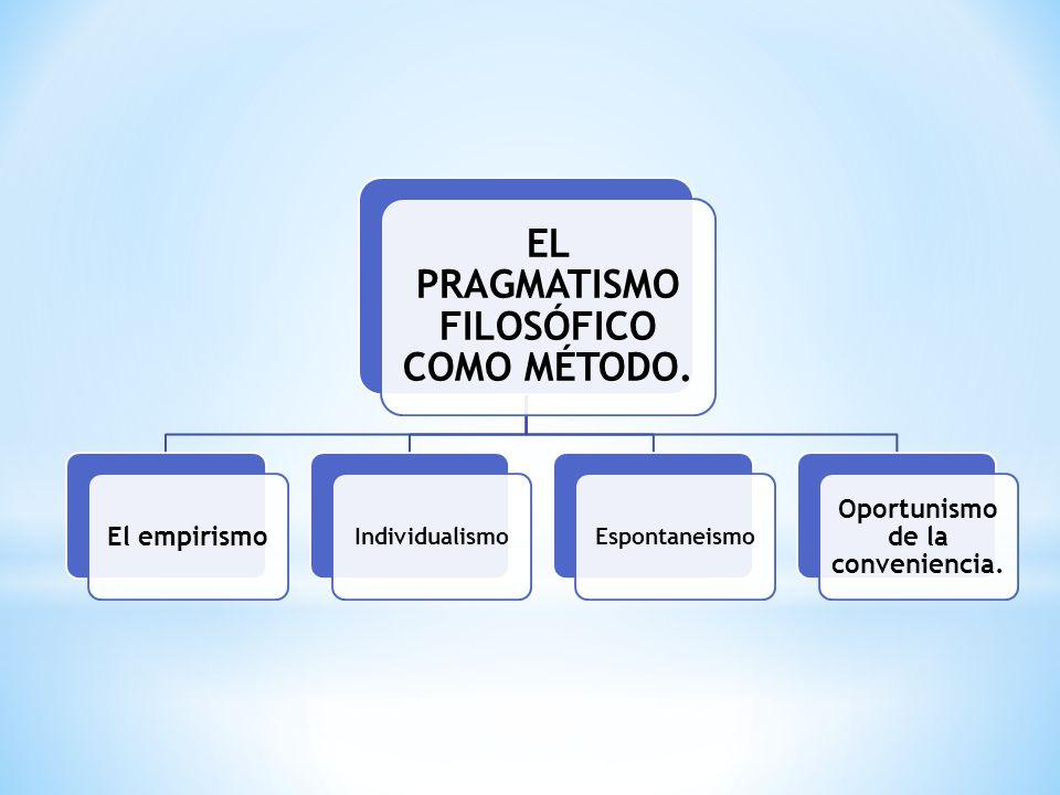 El pragmatismo se utiliza al prever para el futuro la utilidad y beneficios de una decisión. Las personas deben construir conocimientos, comienza a en