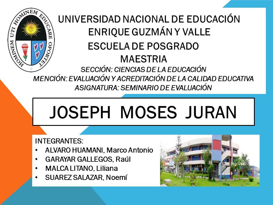 UNIVERSIDAD NACIONAL DE EDUCACIÓN ENRIQUE GUZMÁN Y VALLE ESCUELA DE POSGRADO MAESTRIA SECCIÓN: CIENCIAS DE LA EDUCACIÓN MENCIÓN: EVALUACIÓN Y ACREDITA