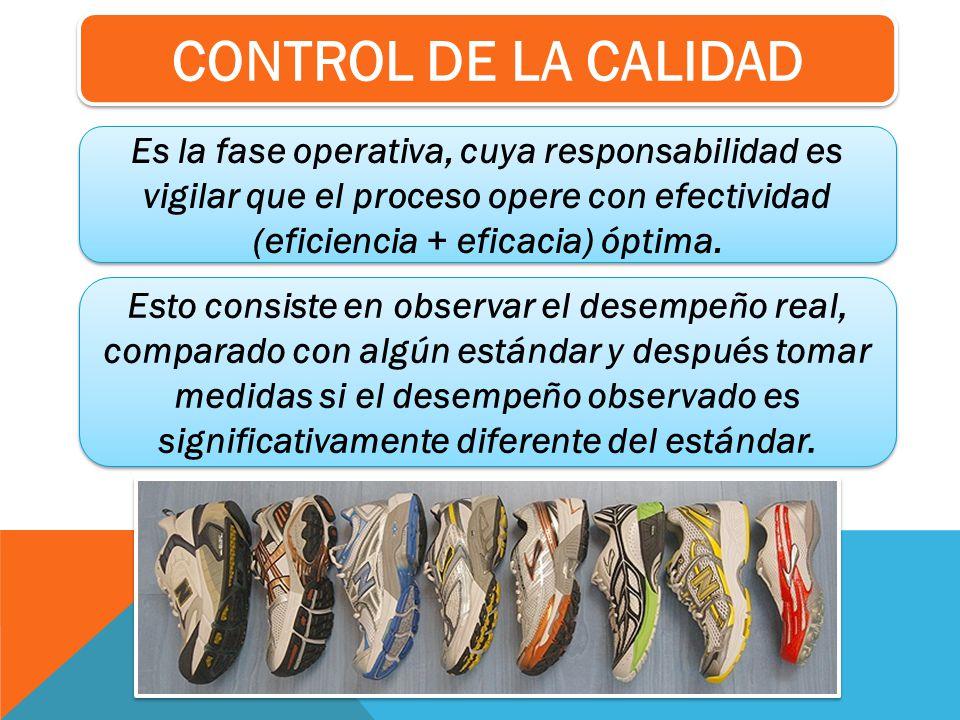 Es la fase operativa, cuya responsabilidad es vigilar que el proceso opere con efectividad (eficiencia + eficacia) óptima. Esto consiste en observar e