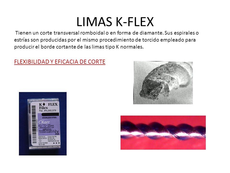 LIMAS K-FLEX Tienen un corte transversal romboidal o en forma de diamante.