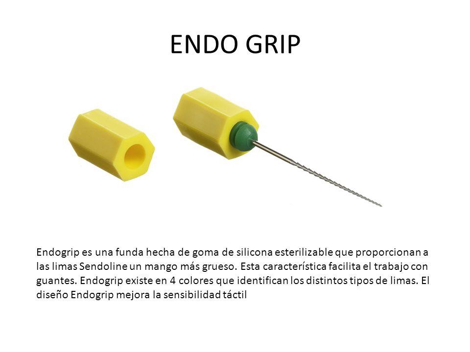 ENDO GRIP Endogrip es una funda hecha de goma de silicona esterilizable que proporcionan a las limas Sendoline un mango más grueso.